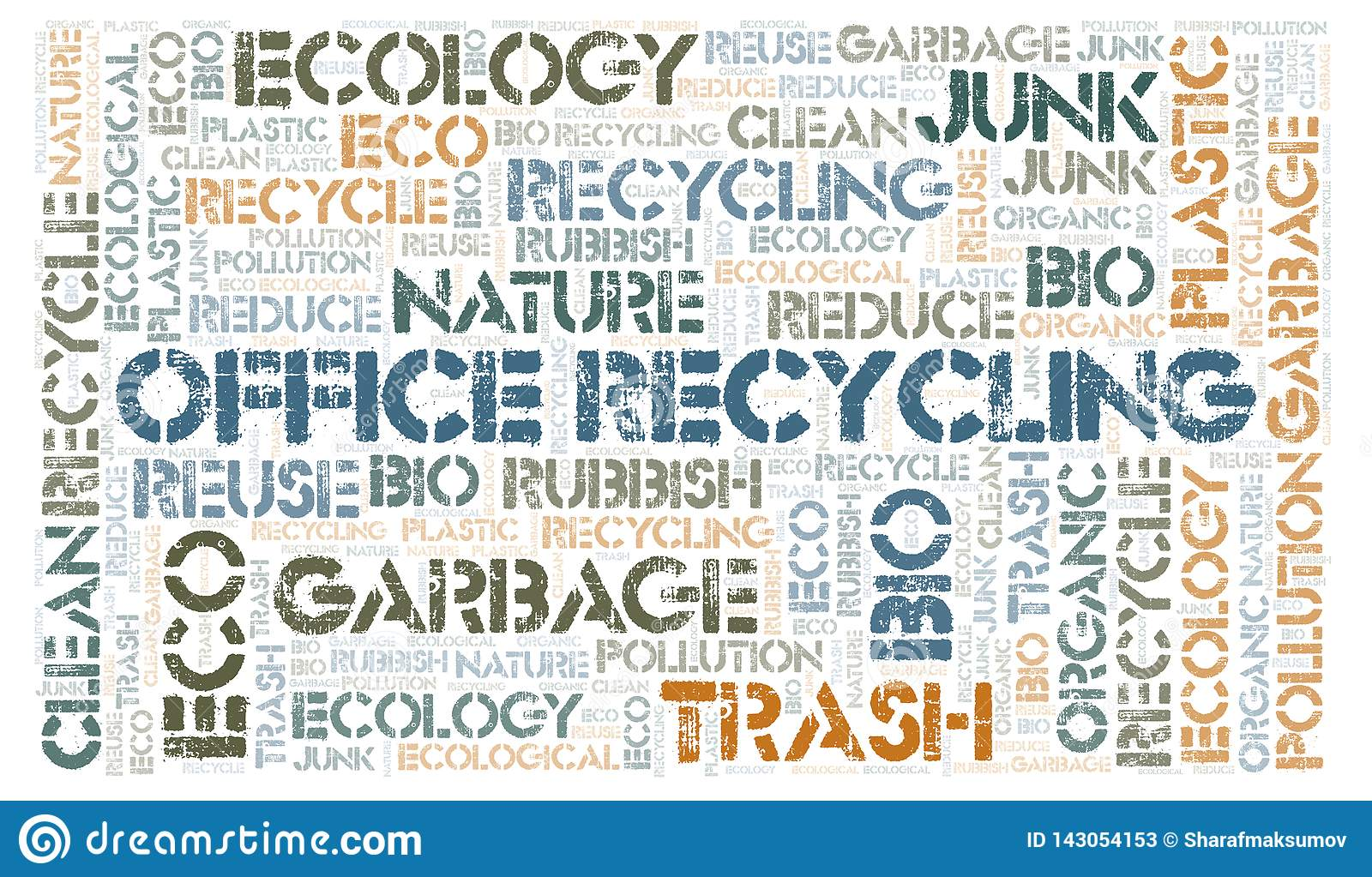 Office Recycling word cloud