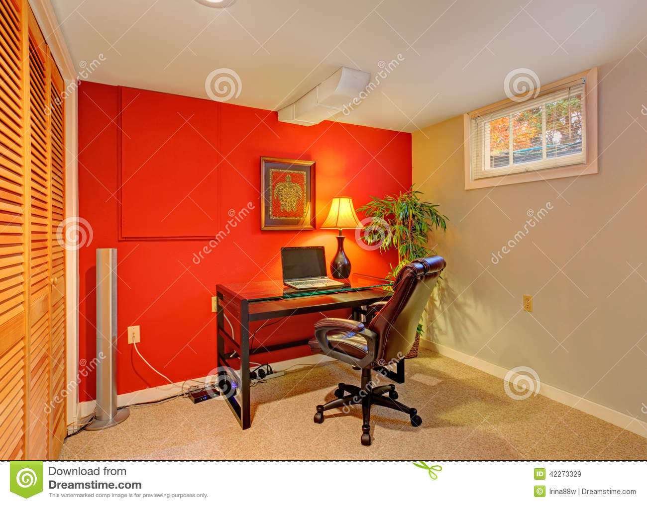colors for office. Office Room In Contrast Bright Colors Stock Image - Of Laptop, Indoors: 42273329 For P