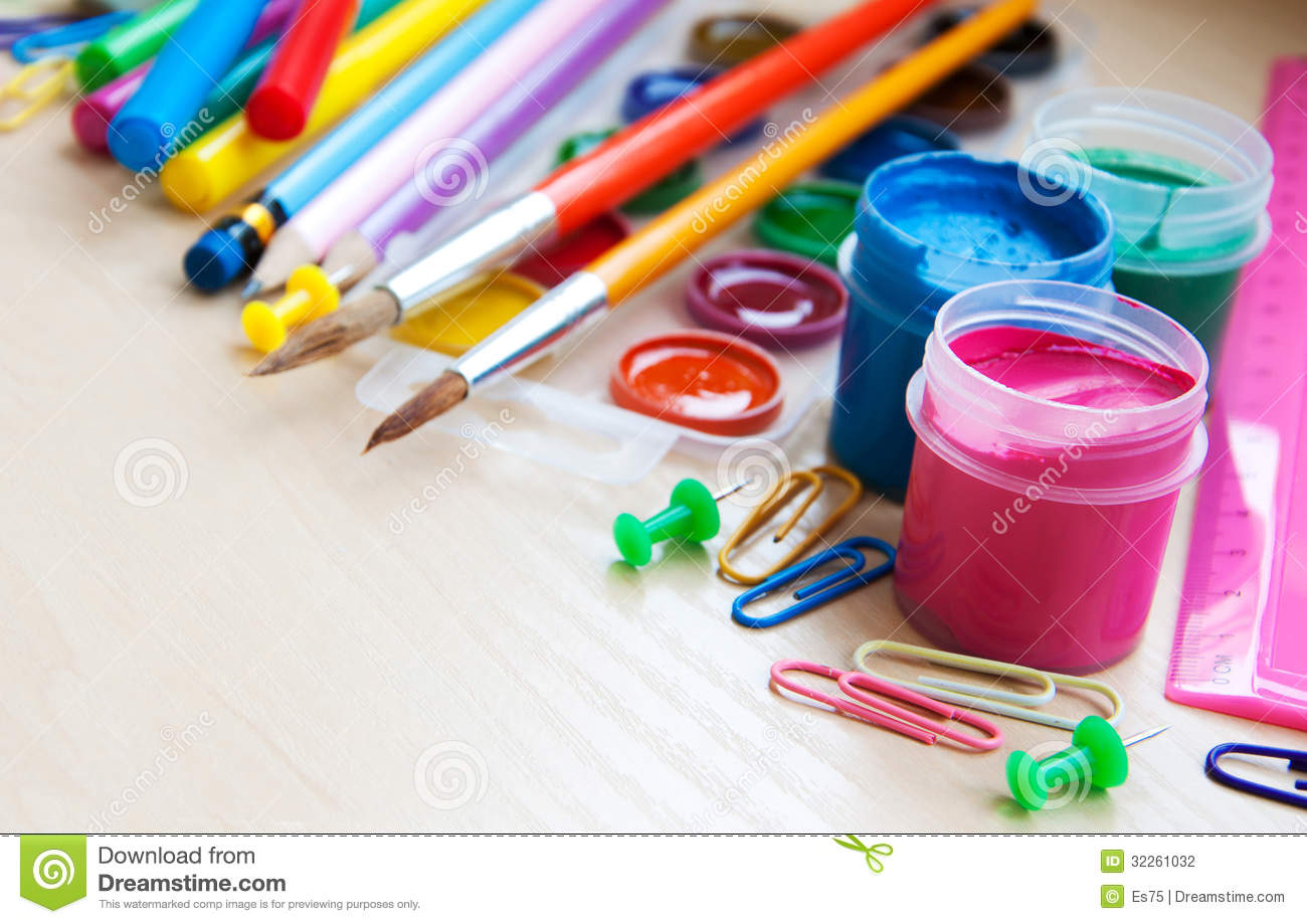 Office Or School Supplies Stock Photography Image 32261032