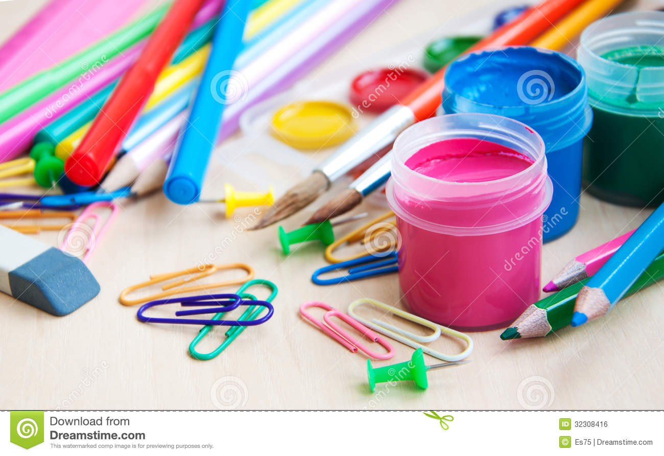 Office Or School Supplies Royalty Free Stock Image Image