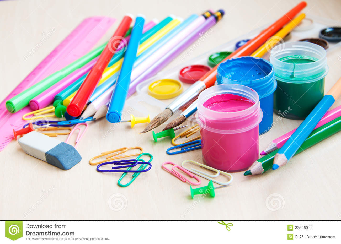 Office Or School Supplies Stock Image Image 32546011