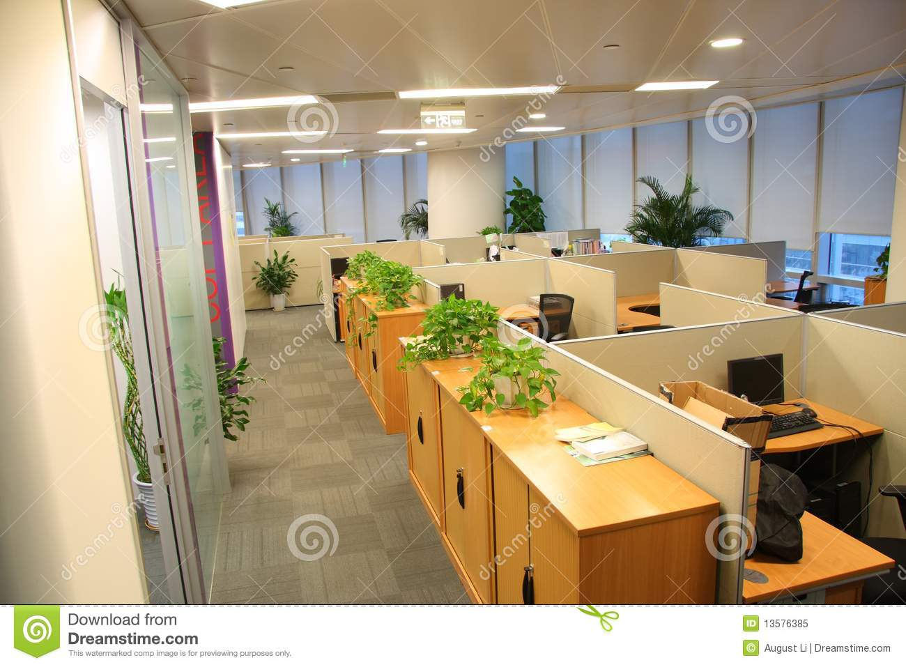 Office Settings Stock Image Image Of Furnishing Inside