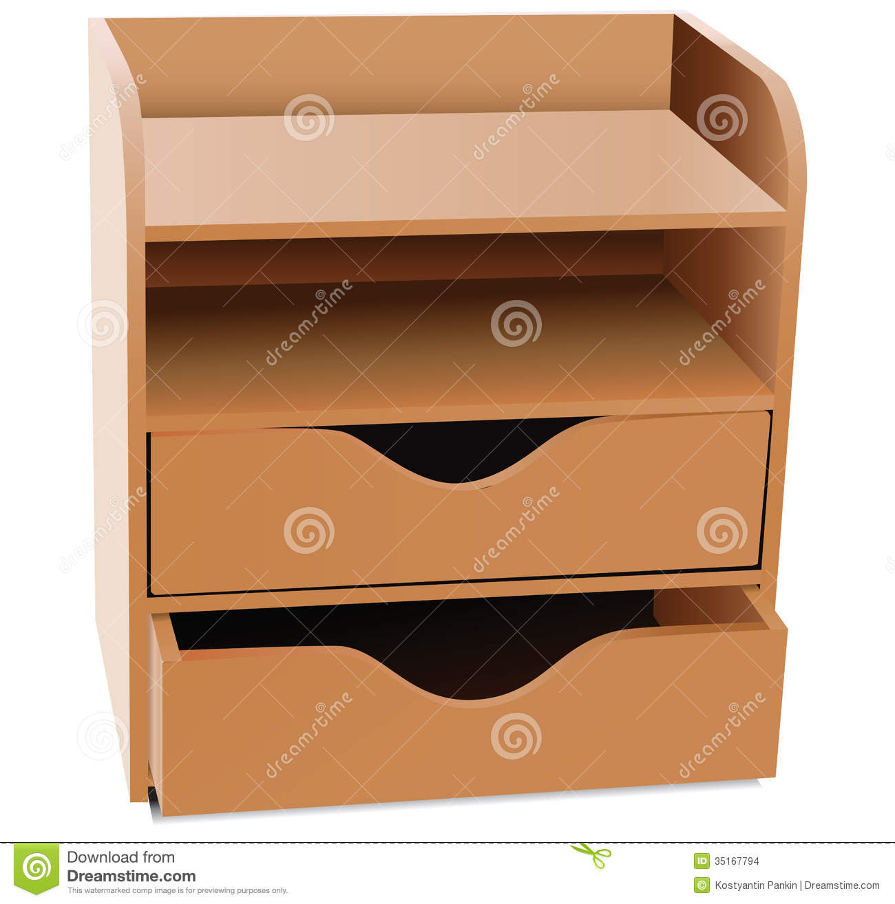 Office Shelves Organizer Stock Vector Image Of Office