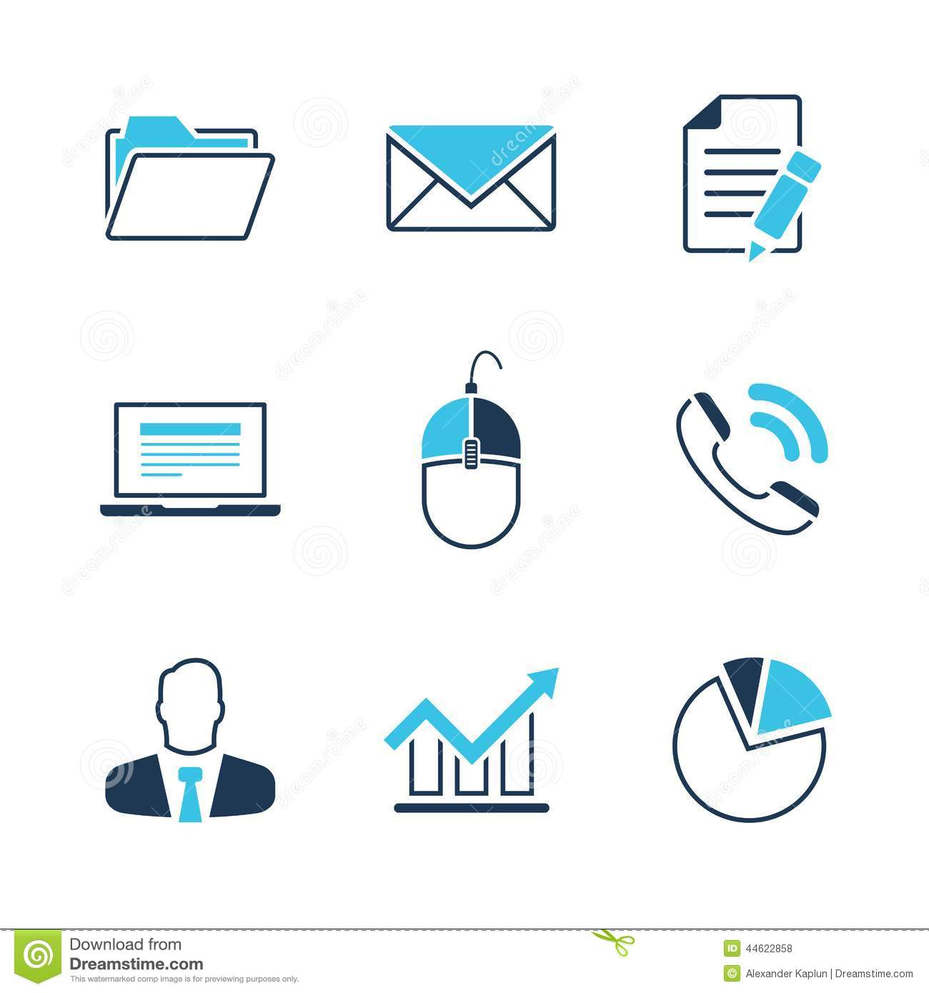 Office Simple Vector Icon Set Stock Vector - Image: 44622858