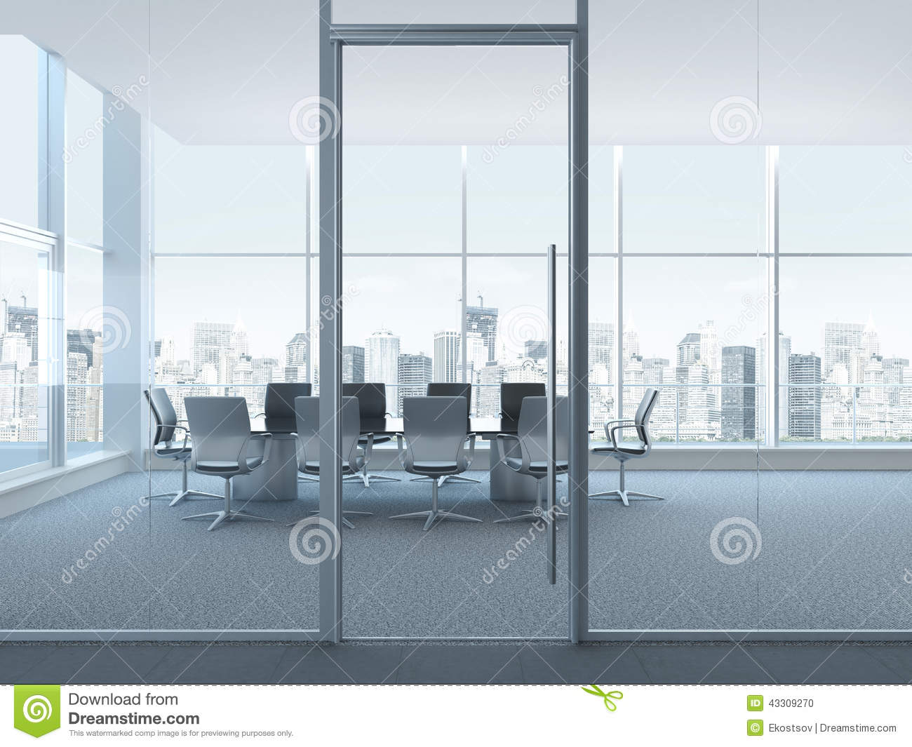 Strange Office Space Interior Stock Photo Image 43309270 Largest Home Design Picture Inspirations Pitcheantrous
