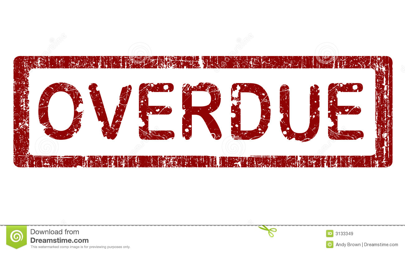 office stamp overdue royalty free stock images image 3133349