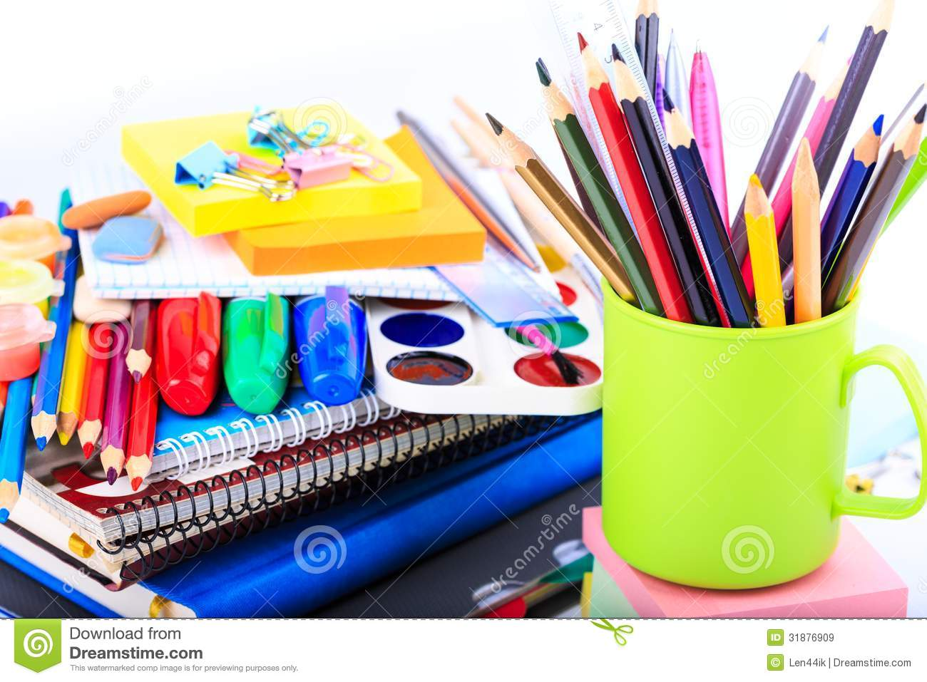 office stationary back to school concept stock image image of