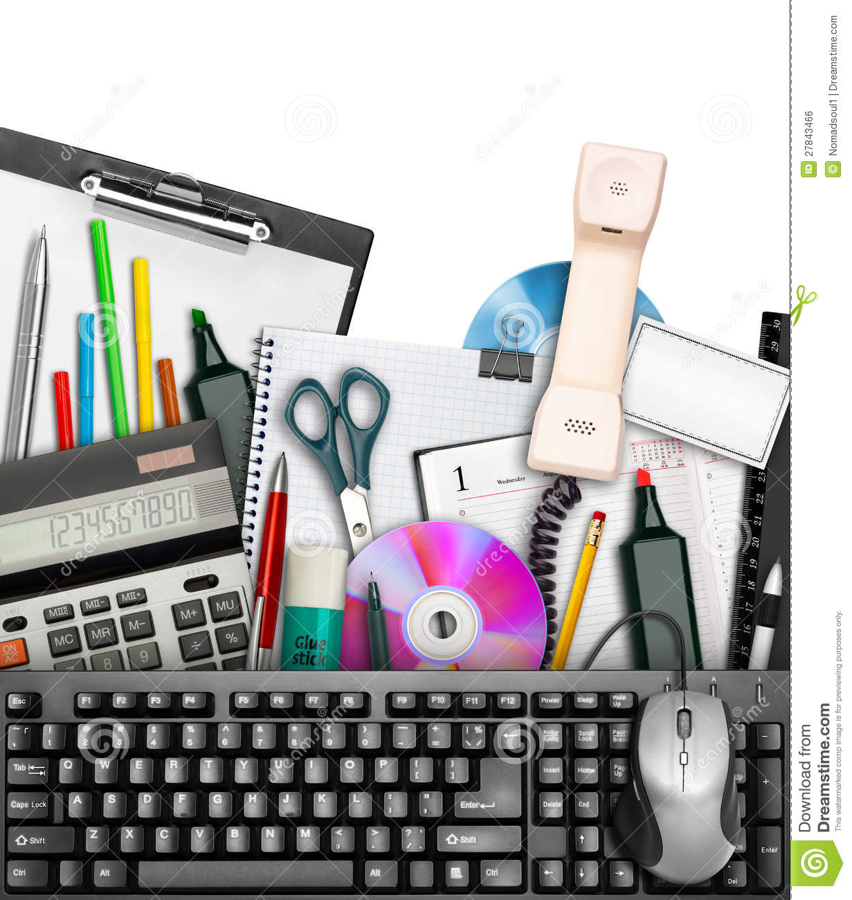 Office Stationery Royalty Free Stock Image - Image: 27843466