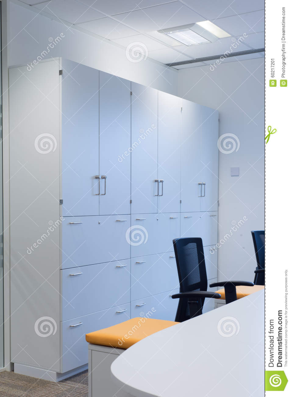 Office Storage Cabinets Stock Image Image Of Windows 60217201
