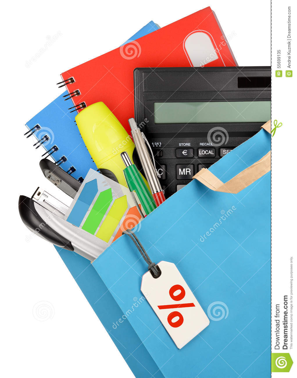 Office Supplies Stock Photo Image 55699135