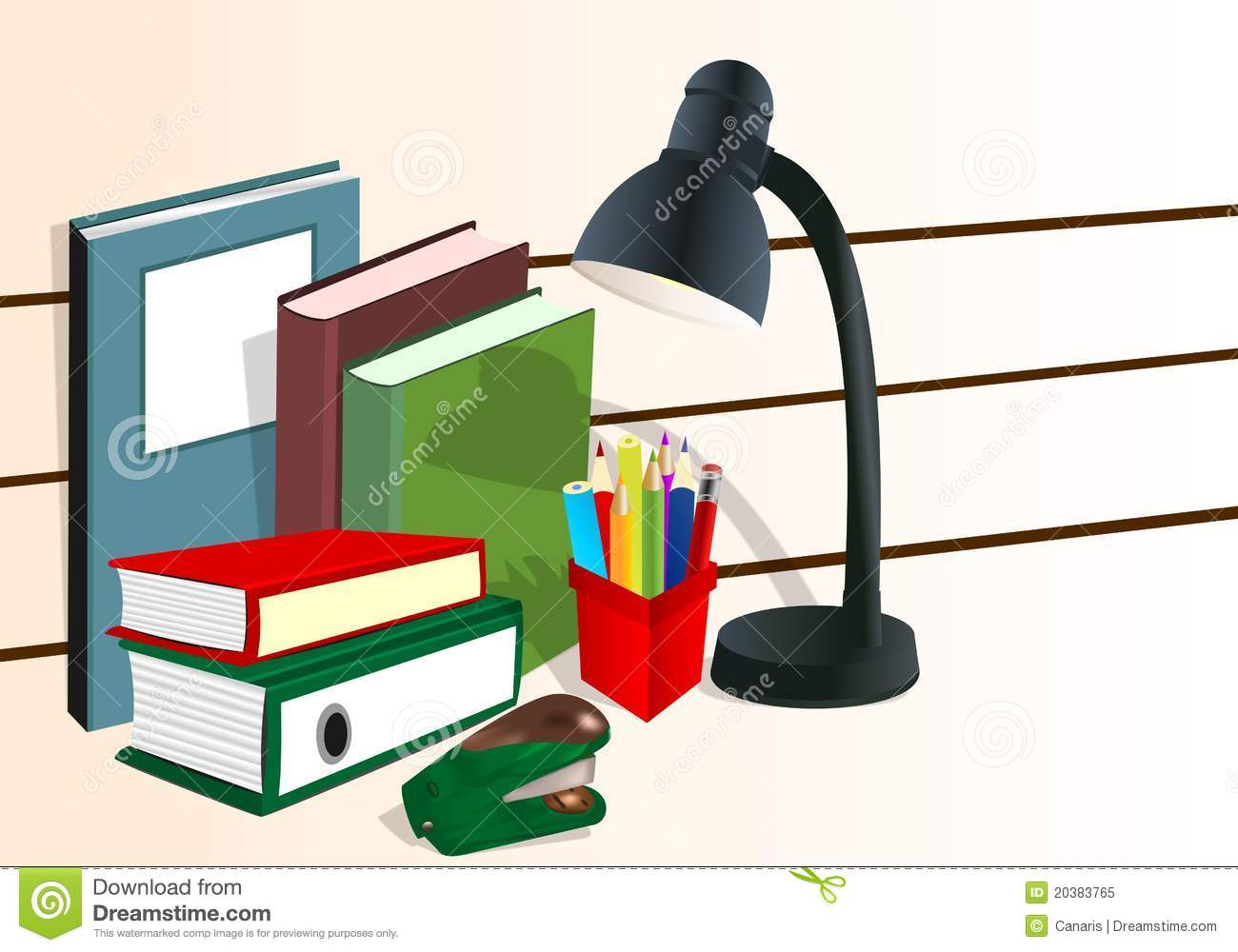 Office Supplies, Cdr Vector Royalty Free Stock Photo - Image: 20383765