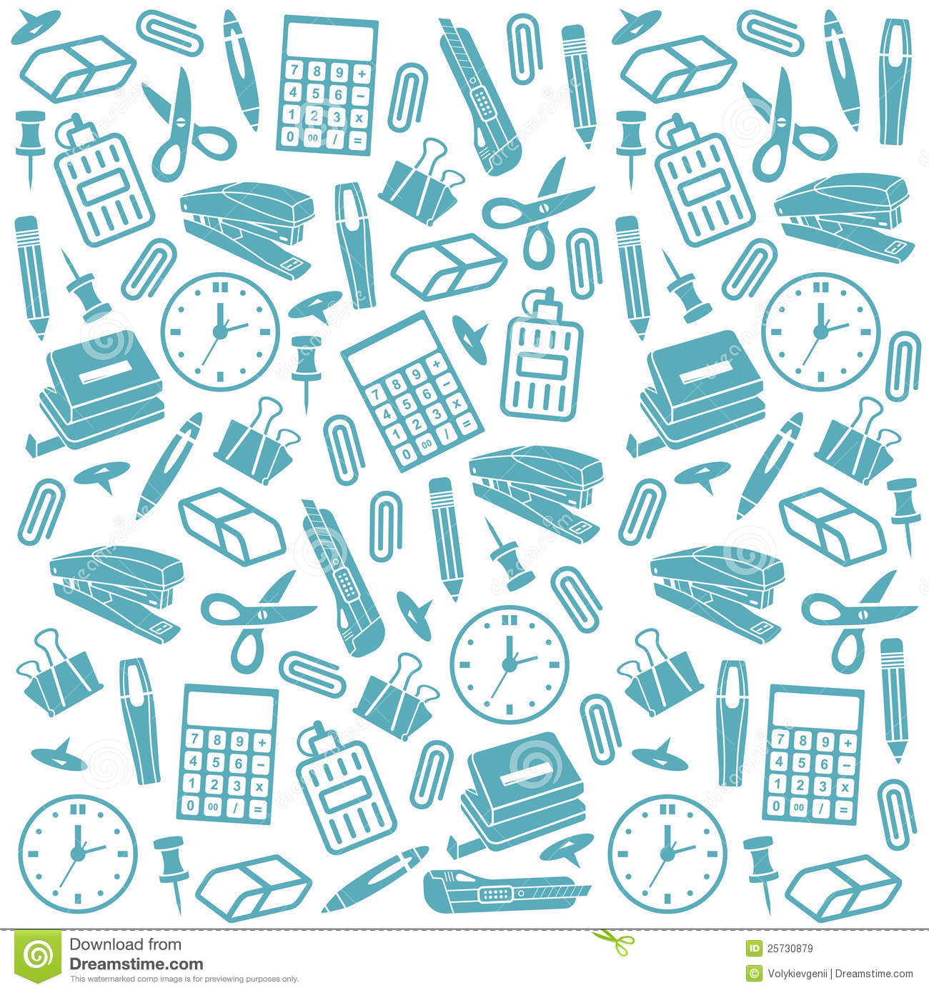 office supplies seamless background royalty free stock