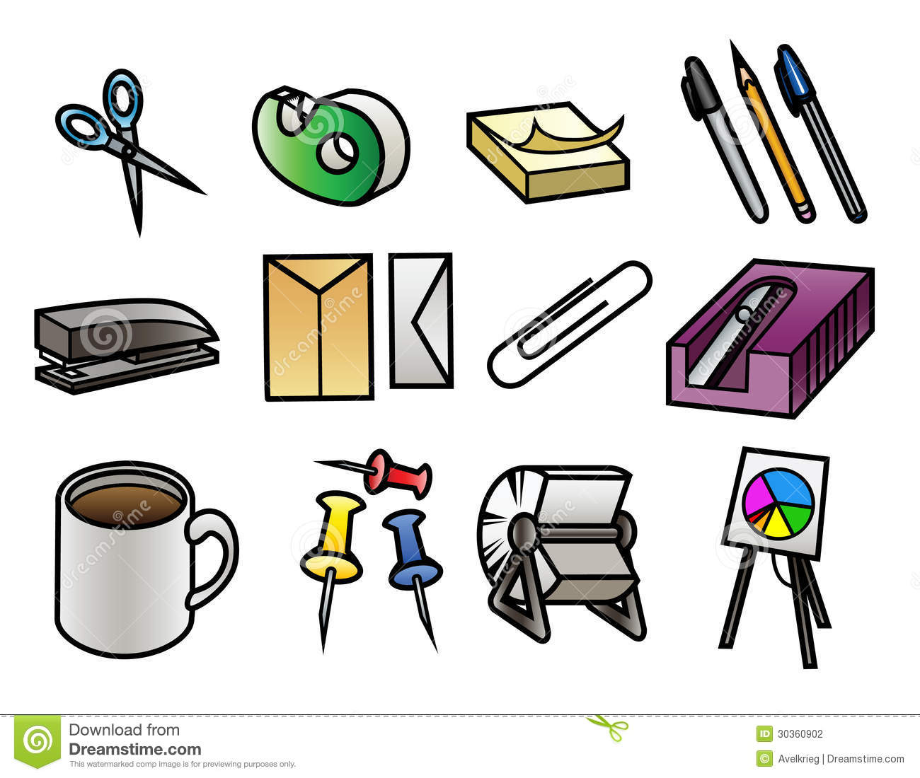 Office Supply Icons Stock Photography Image 30360902