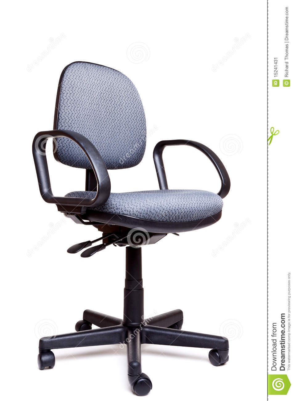 The Blue Office Chair Isolated On The White Background