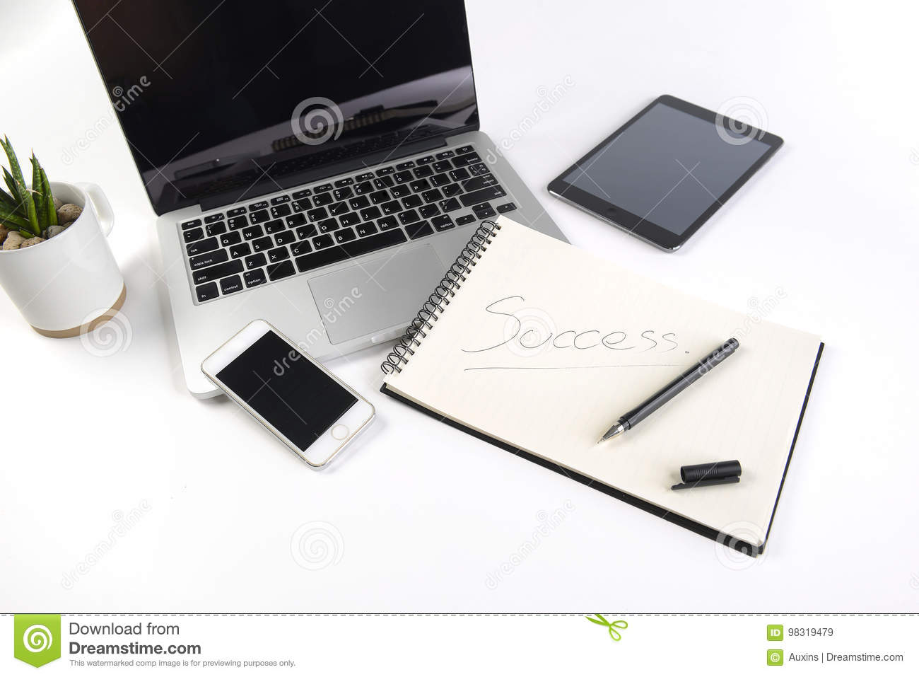 office desk laptop computer notebook mobile. Plain Office Download Office Table With Laptop Computer Notebook Digital Tablet And  Smartphone On White Background Desk Computer Notebook Mobile J