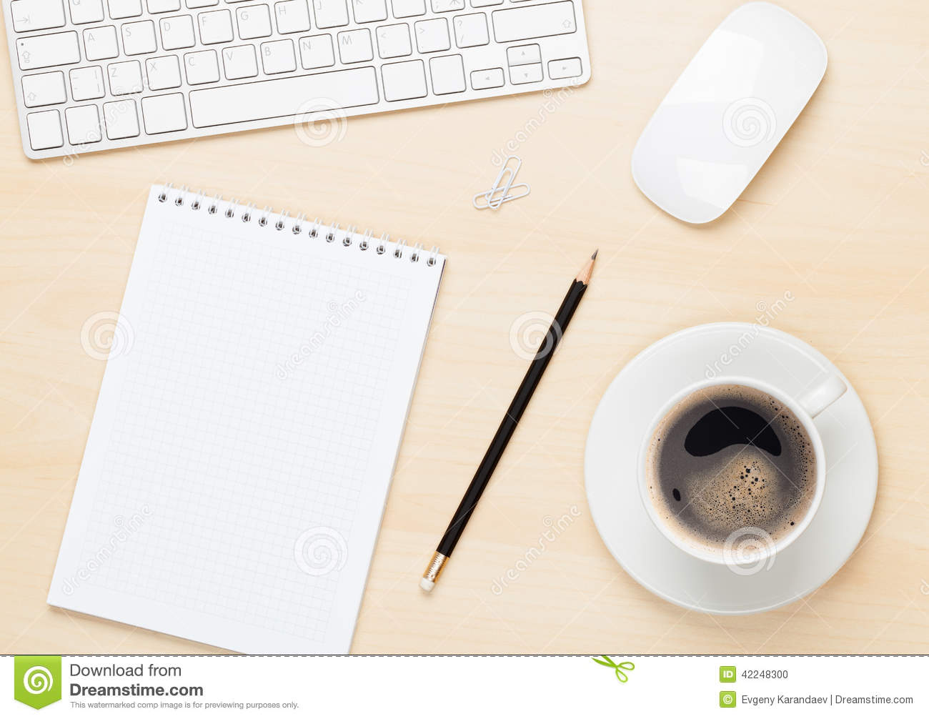 office table with notepad  computer and coffee cup and empty coffee pot clipart Coffee Clip Art