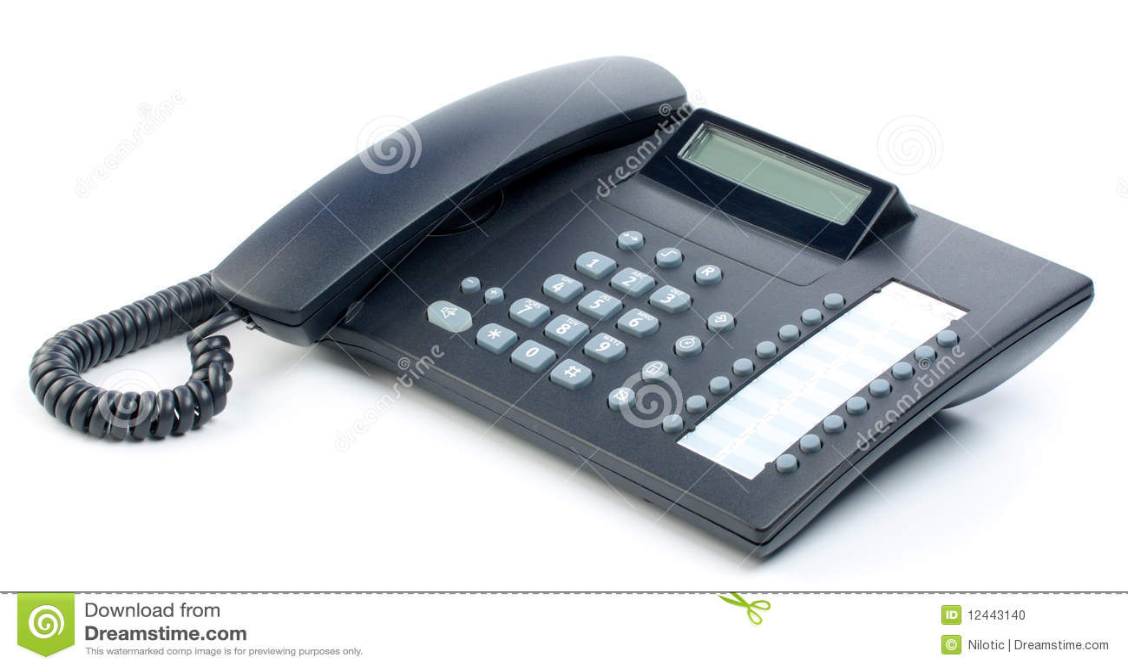 Office Telephone Stock Photo - Image: 12443140