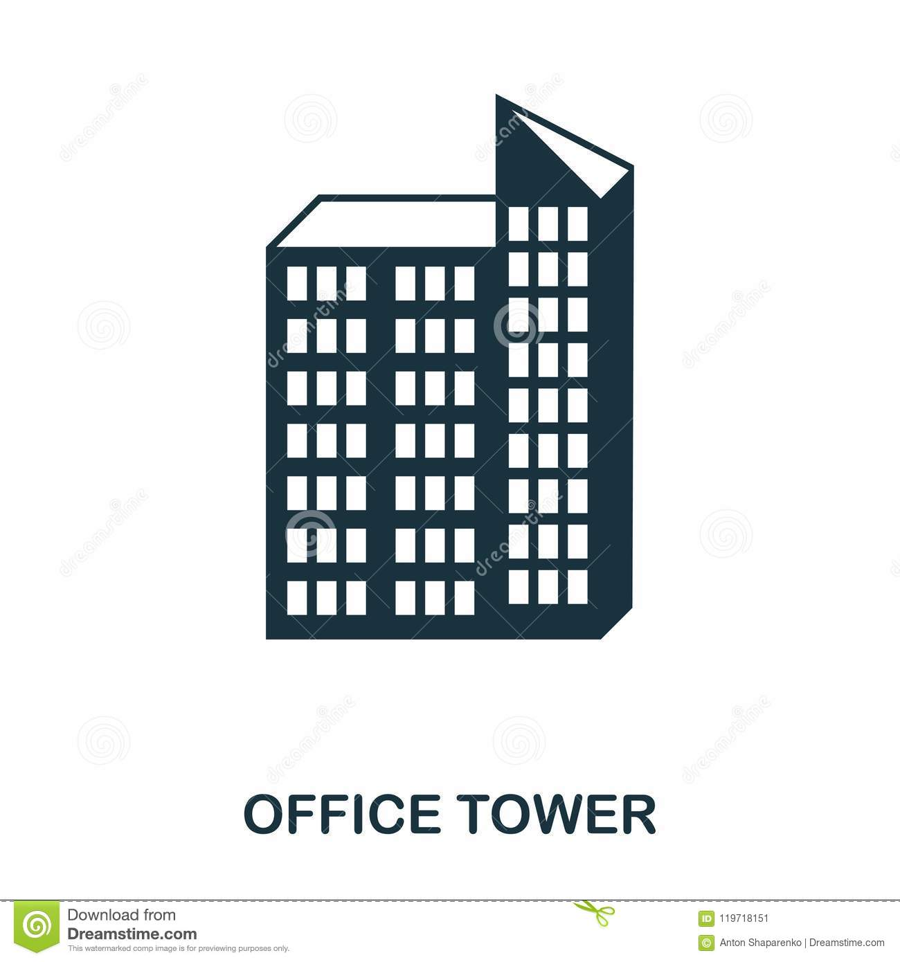 Office Tower Icon Line Style Icon Design Ui Illustration Of Office Tower Icon Pictogram Isolated On White Ready To Stock Illustration Illustration Of Skyscraper Capital 119718151