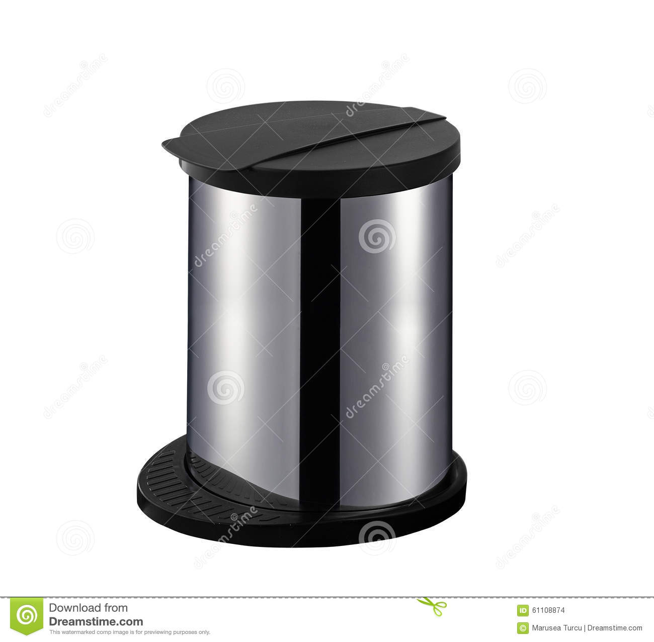Office Trash Can Stock Photo Image 61108874