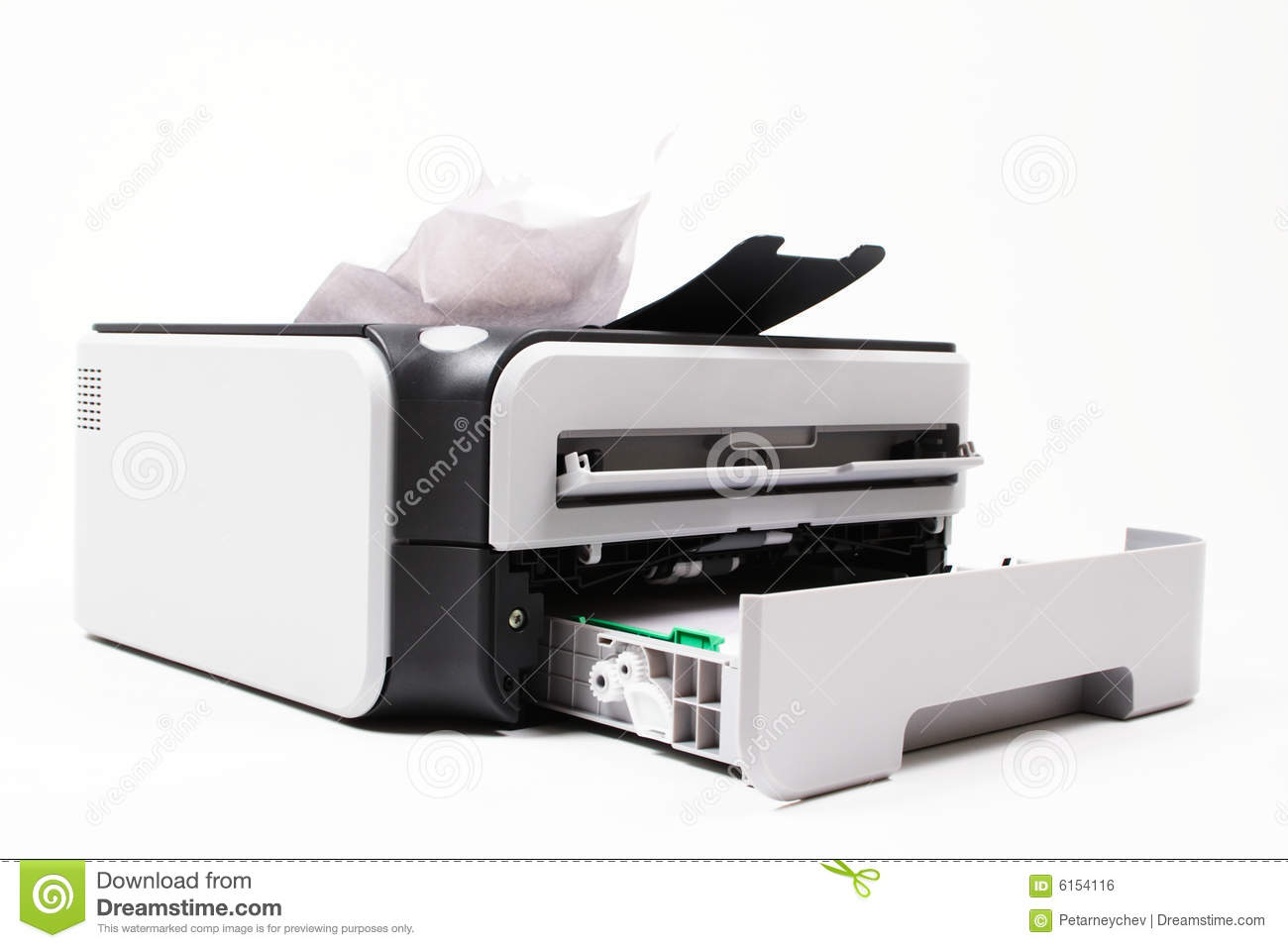 Download Office Troubles - Paper Jam Stock Photo - Image of printing, device: 6154116