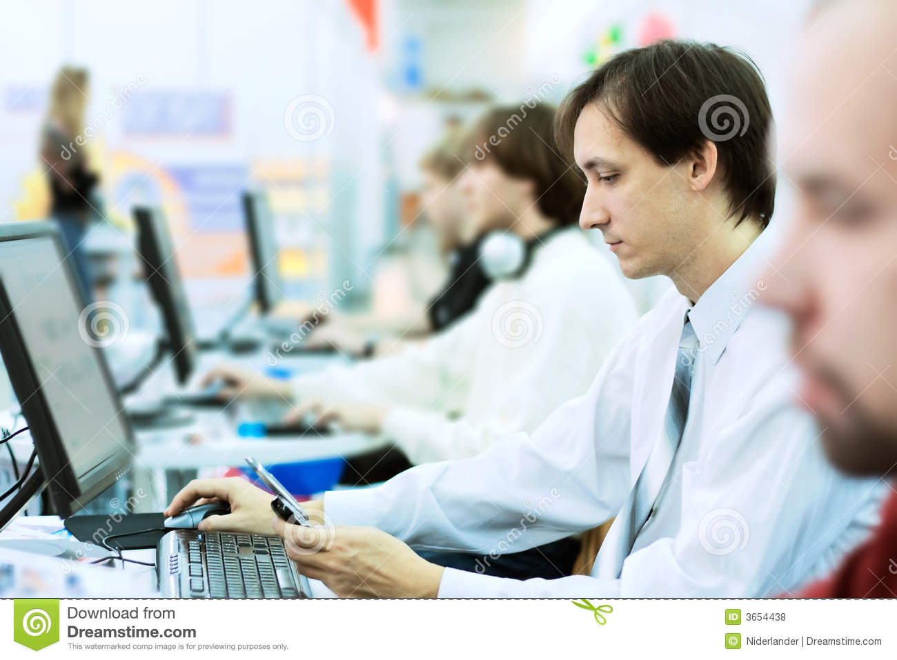 Office Work Royalty Free Stock Photos - Image: 3654438