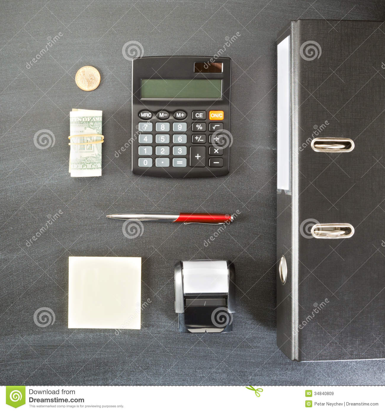 Office Work Or Accounting Royalty Free Stock Images