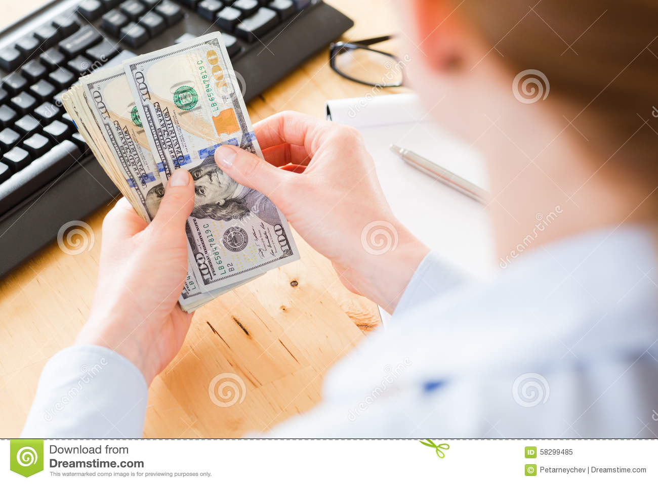 Office Work Accounting Stock Image Image Of Banknotes