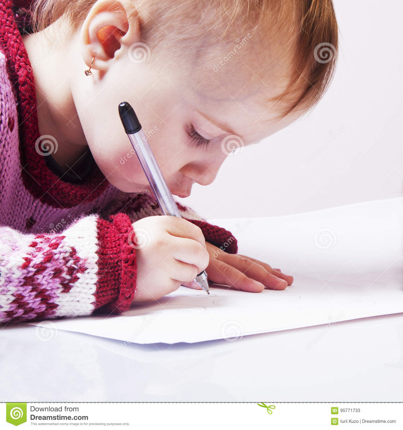 office work little baby girl works with documents humorous ph