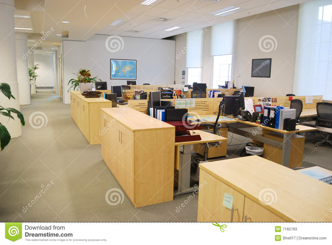 Office Work Place Stock Image Of Horizontal
