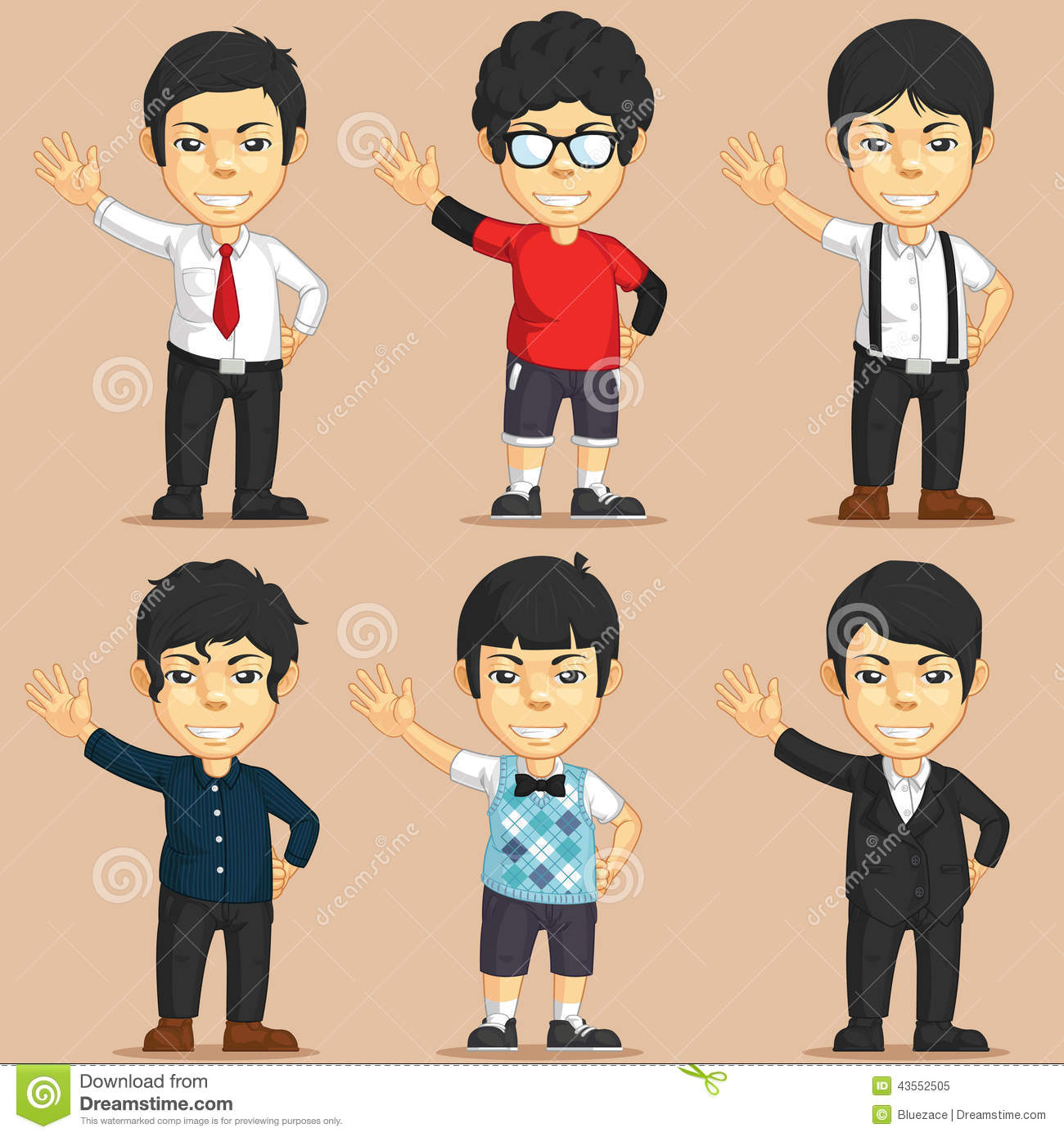 Cartoon Characters Clothes : Office worker character set stock vector image