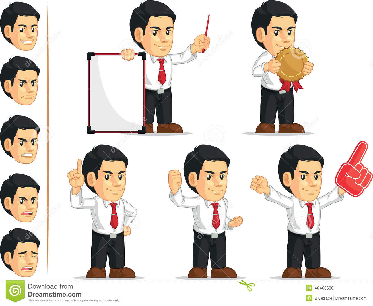 office worker customizable mascot stock vector image  office worker customizable mascot 3