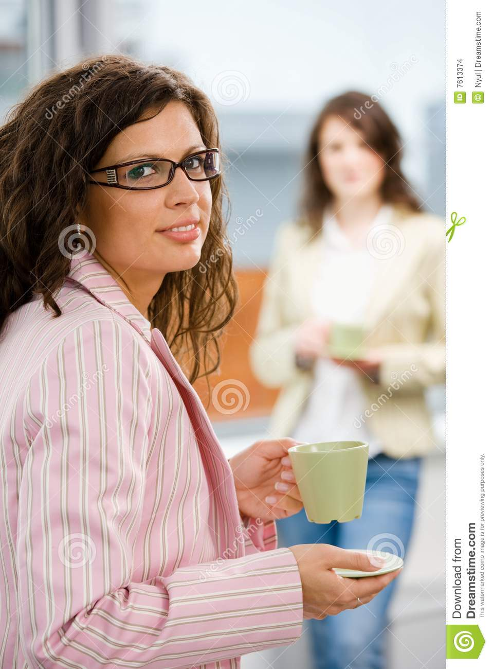 Office Workers Drink Coffee Stock Images - Image: 7613374