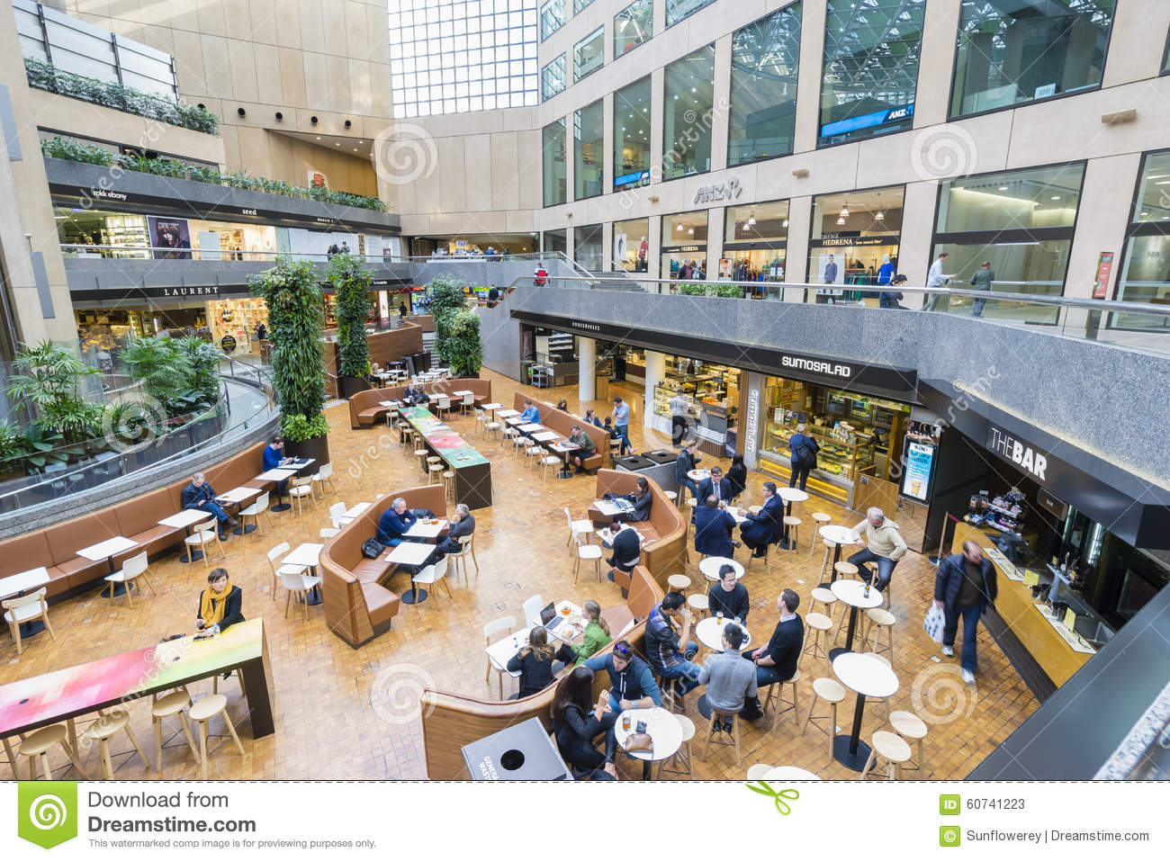 Office workers in the modern food court editorial stock for Australian modern cuisine