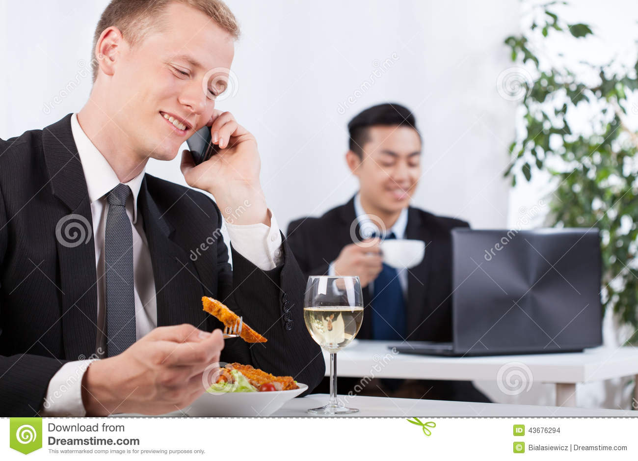 Office Workers Taking A Break For Lunch Stock Photo ...  Office Workers ...