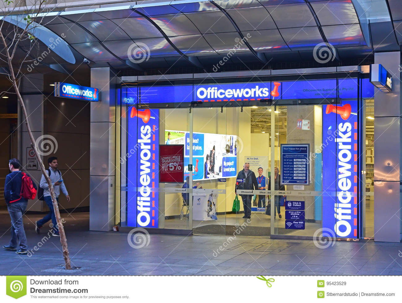 Officeworks Store At Sydney Central Business District Editorial ...