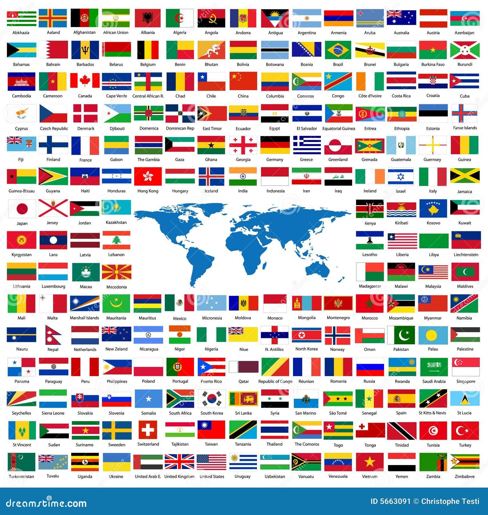 Offici le vlaggen van de wereld vector illustratie afbeelding 5663091 - De thuisbasis van de wereld chesterfield ...