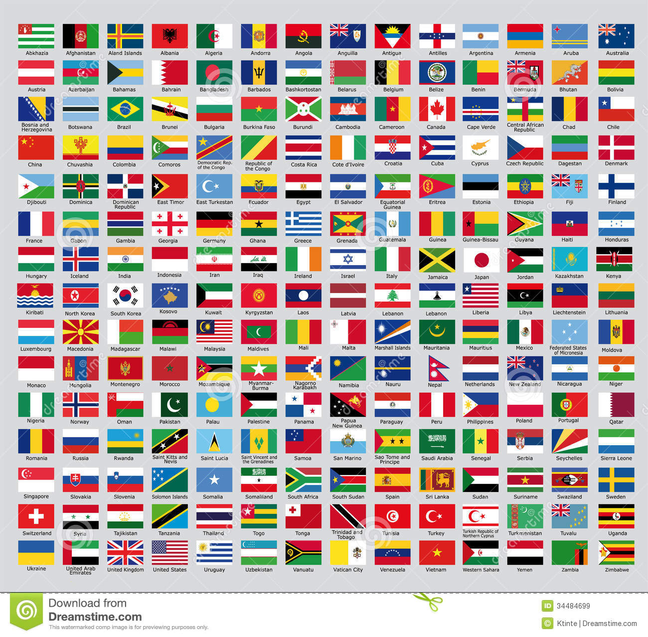 official country flags stock illustration illustration of continent