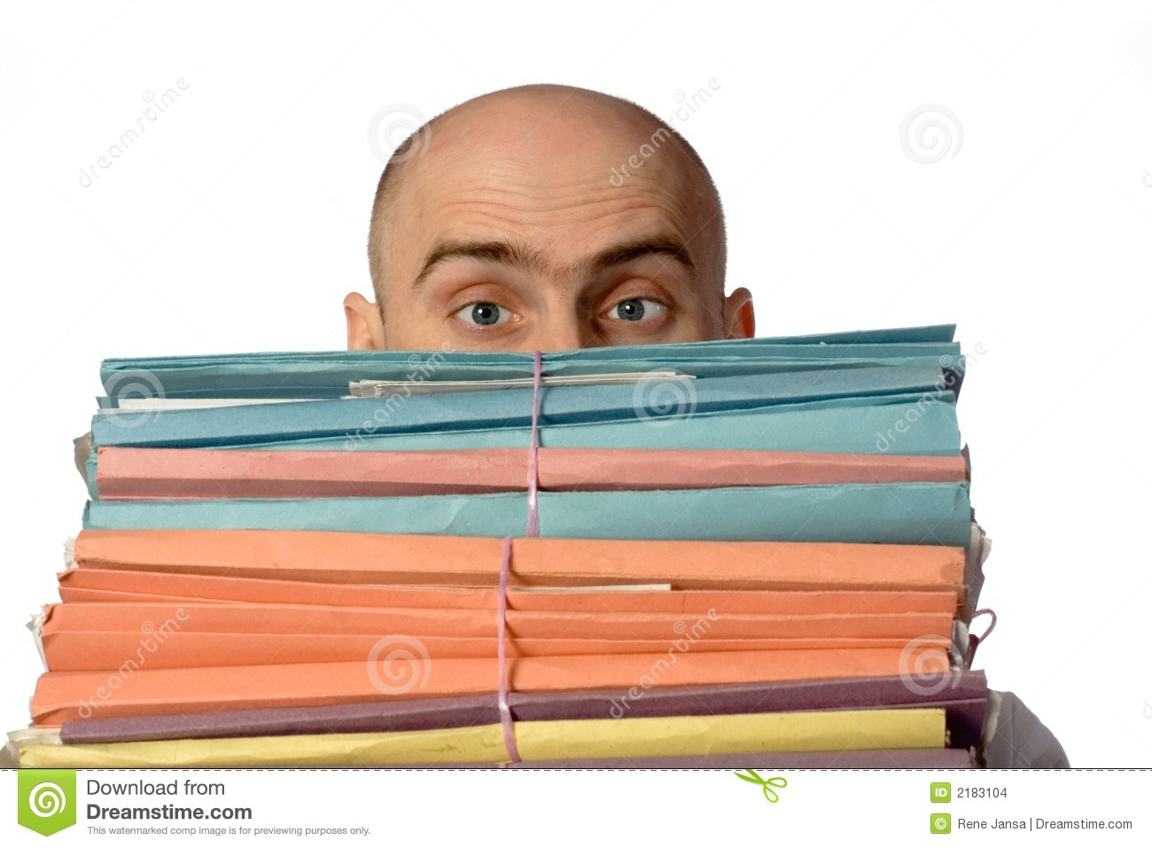 An Official And His Paperwork Stock Photo Image Of Tired