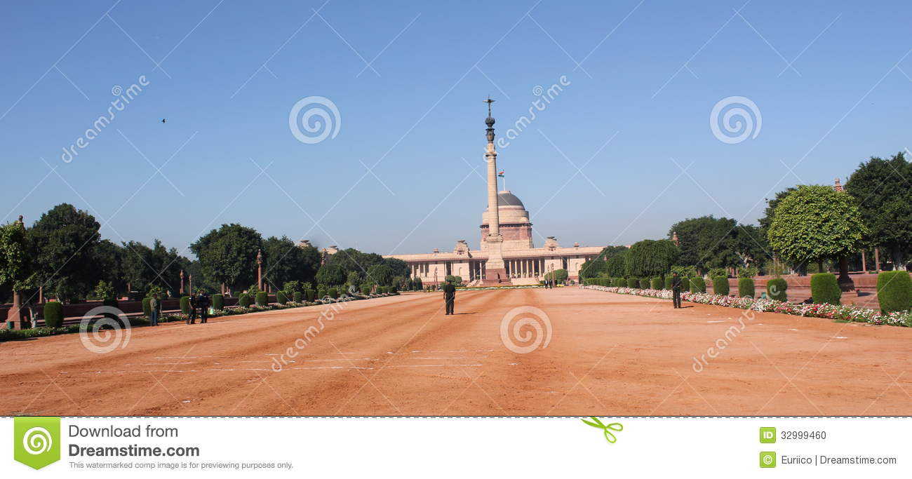 Official Home Of The President Of India Editorial Image - Image: 32999460