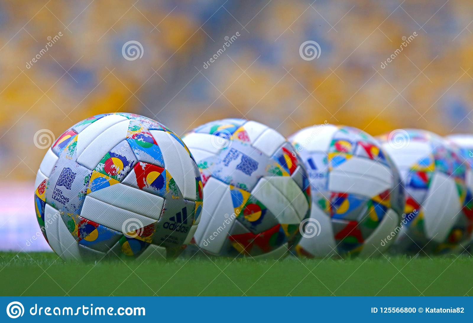4187cb9e71 Official Match Ball Of UEFA Nations League 2018 2019 Editorial Image ...