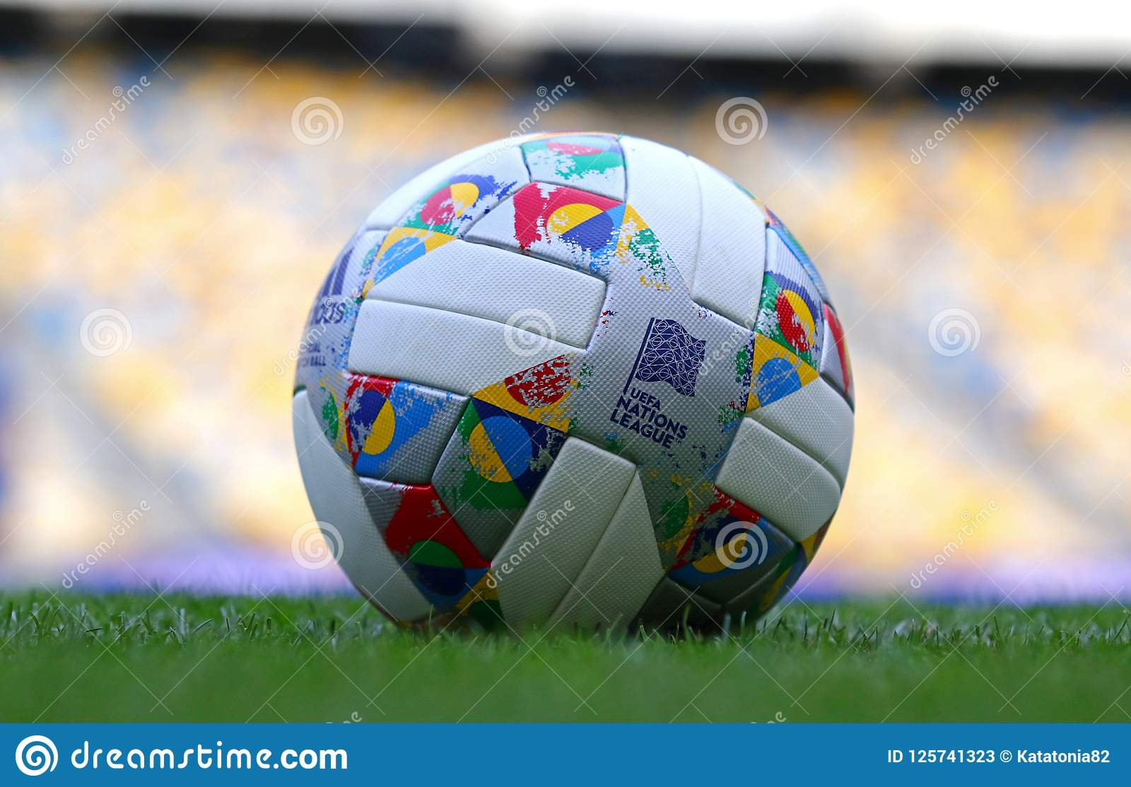 98643434a2 Official Match Ball Of UEFA Nations League 2018 2019 Editorial Stock ...