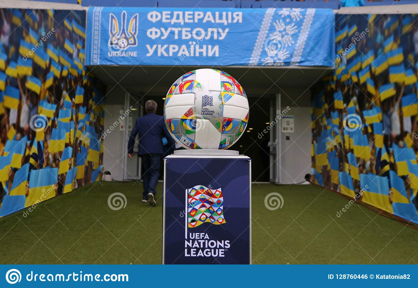 Official Match Ball Of The Uefa Nations League Editorial Photo Image Of League Modern 128760446