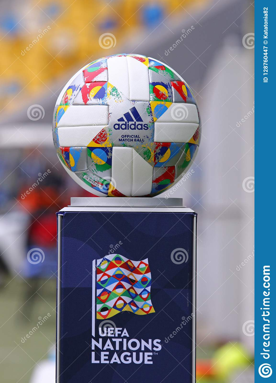 6f68999b89 Official Match Ball Of The UEFA Nations League Editorial Photography ...