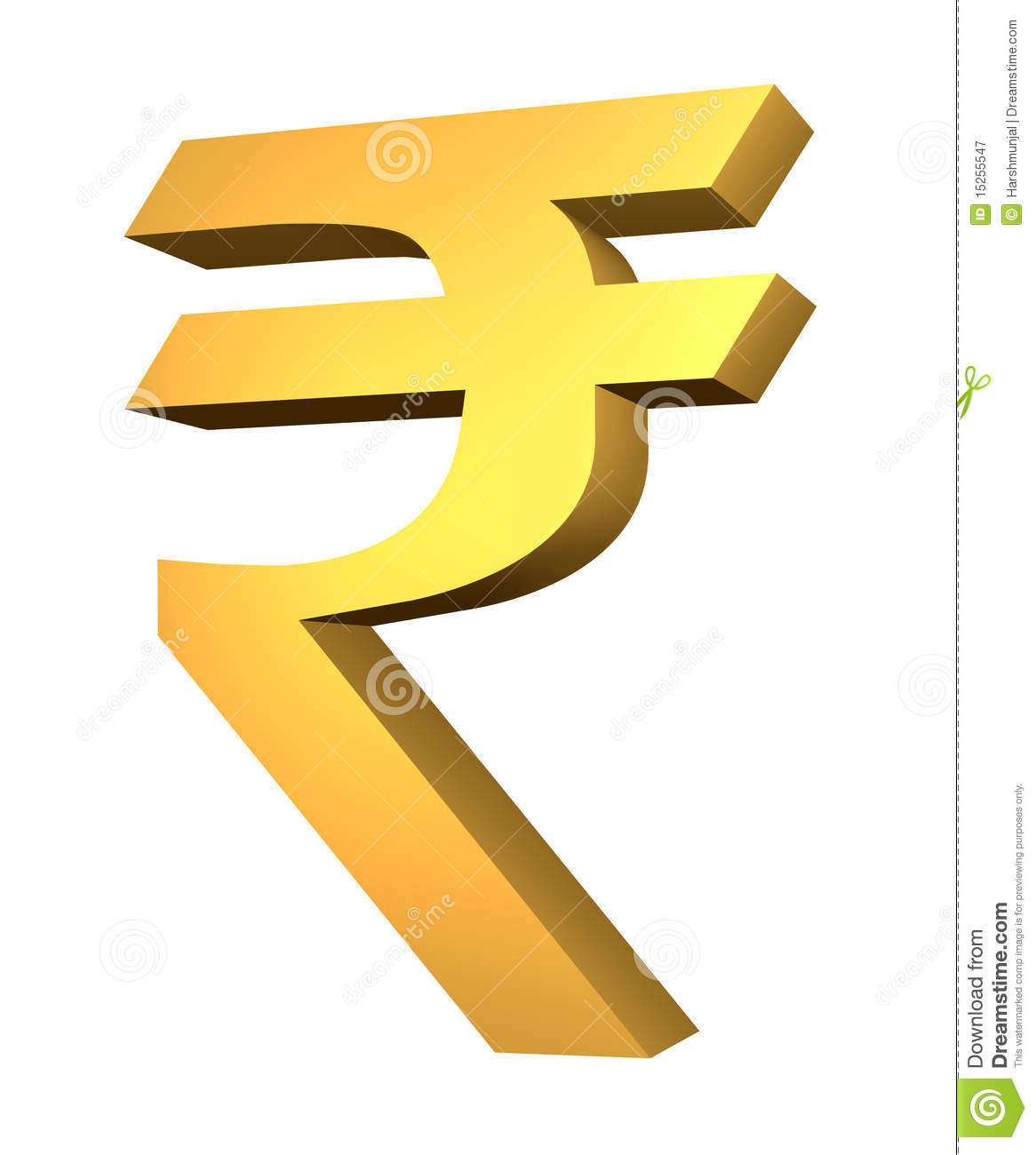 Official Rupee Symbol Stock Illustration Illustration Of India