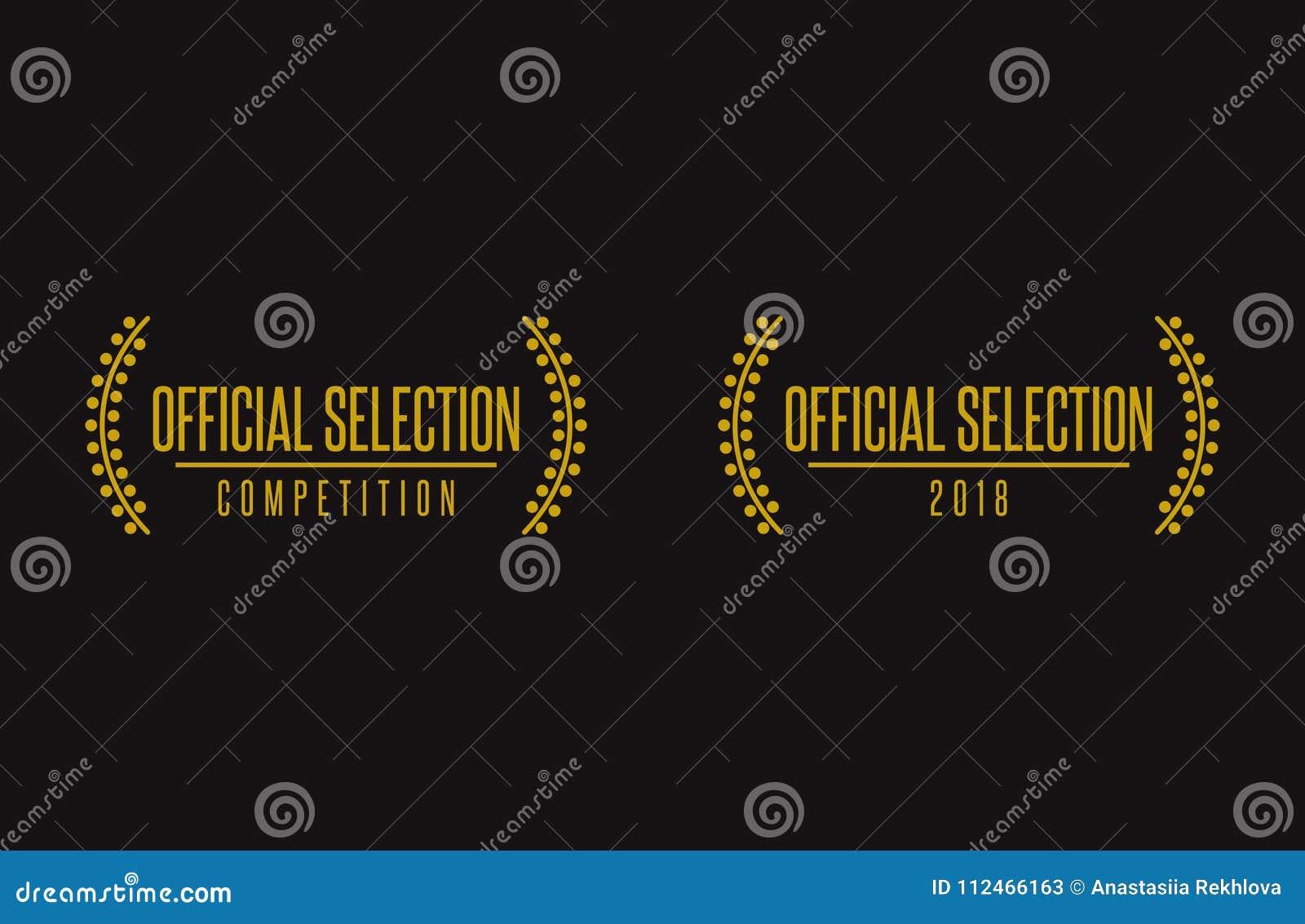 Official Selection Film Festival Logo Stock Vector