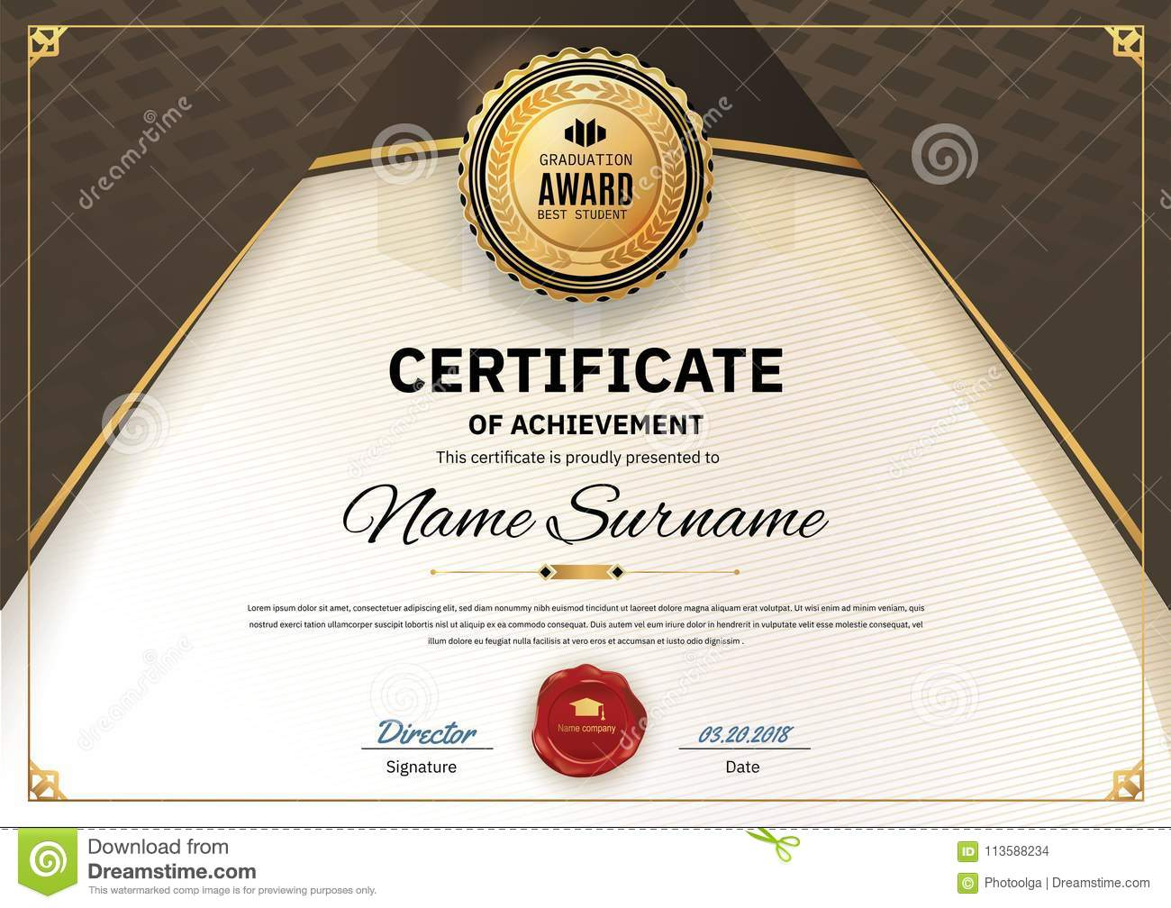 official white certificate of appreciation award template with wave