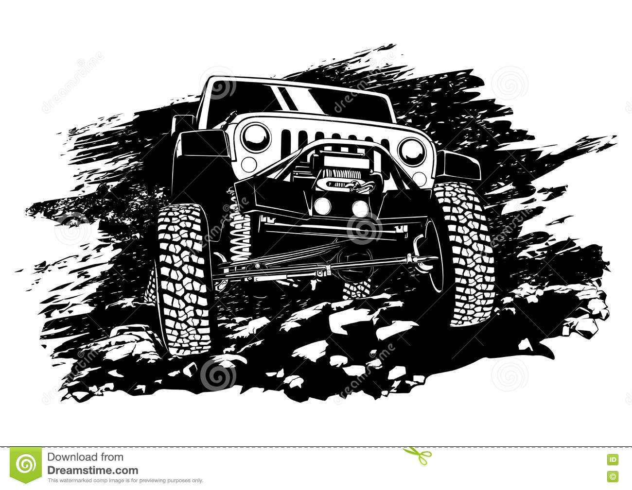 Jeep Cartoons Illustrations Amp Vector Stock Images 3571