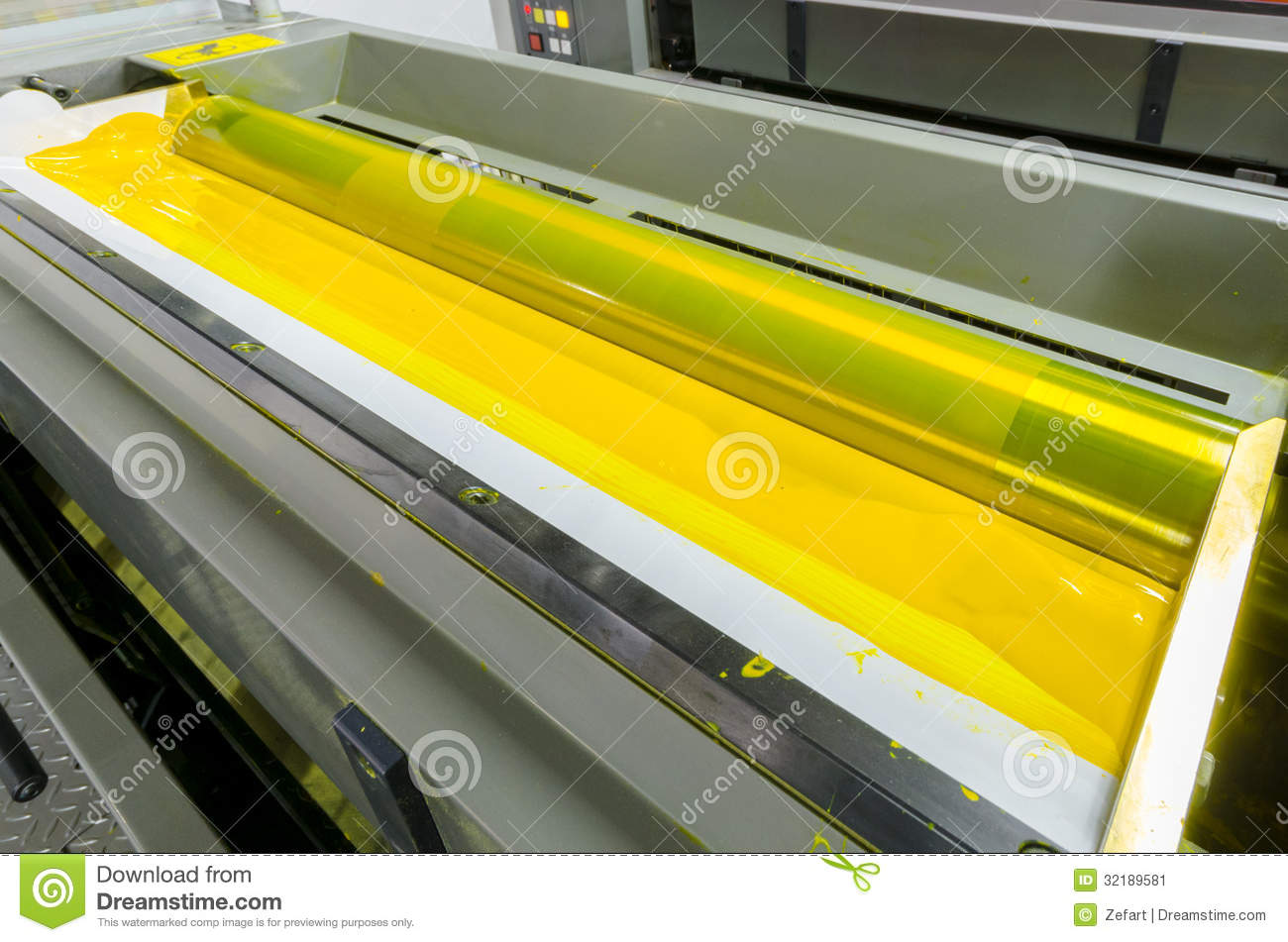 Offset Machine Printing Press Yellow Ink Rollers