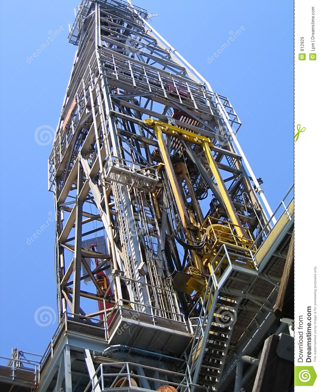 Offshore Drilling Rig Derrick on deepwater producing platform.