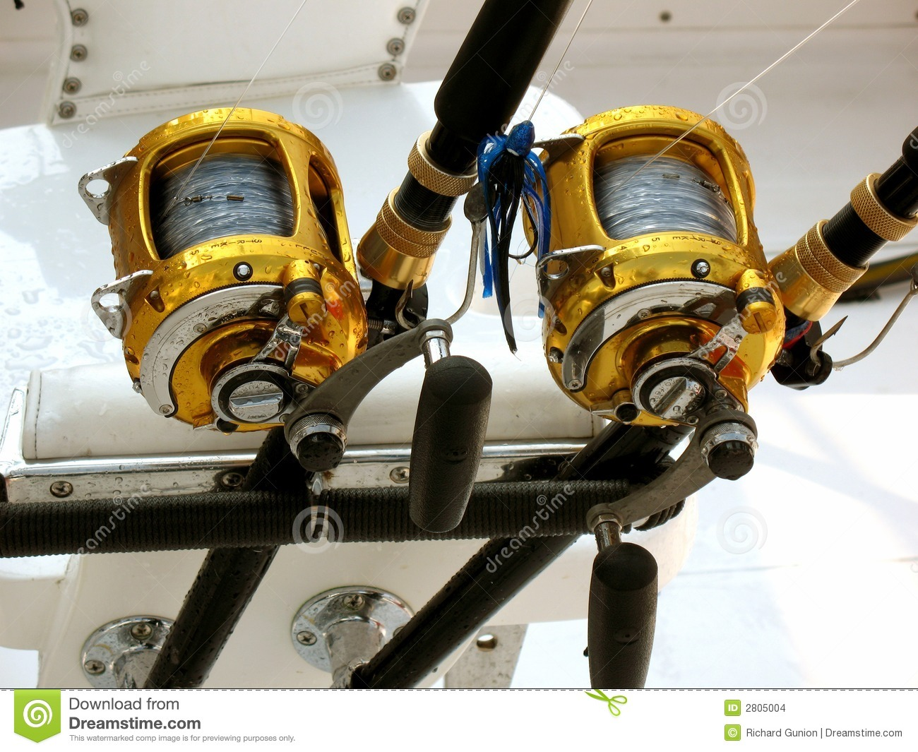 offshore fishing equipment stock images image 2805004